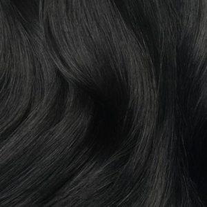 Prémium volumennövelő csatos hajsor #1 éjfekete