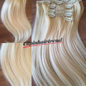 Prémium volumen növelő csatos hajsor #11 platinaszőke