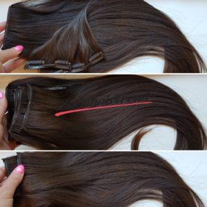 Prémium volumennövelő csatos hajsor #6 csokoládé barna