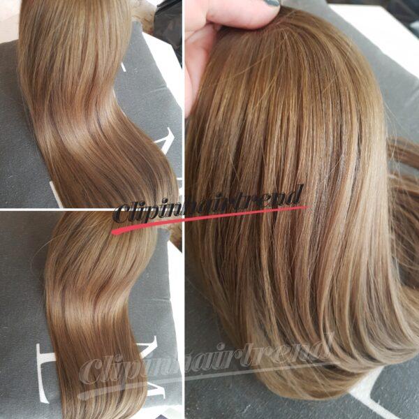 Prémium volumennövelő csatos hajsor #8 középszőke